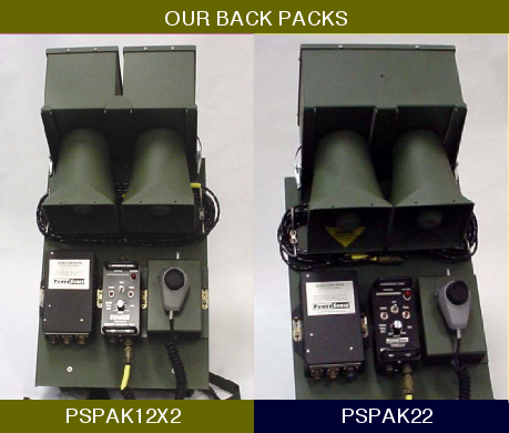 Mobile PA Back Pack Systems